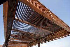 Pergola. Newly built wooden pergola toward the sky Stock Photography