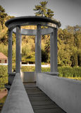 Pergola in a park Royalty Free Stock Photo