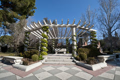 Pergola in park Stock Photos
