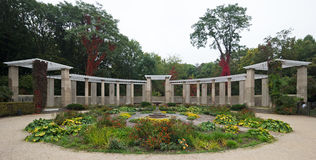 Pergola in a park in autumn Stock Photo