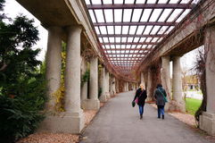 Pergola path Royalty Free Stock Images