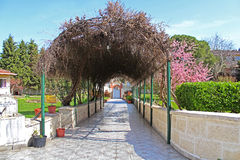 Pergola on the site of Church of St. Mary of Blachernae Stock Images