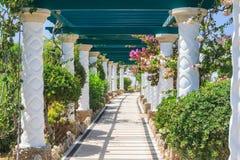 Pergola. Sources Kallithea (Terme Kalithea). Rhodes Island Royalty Free Stock Photo