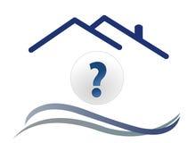Pergunta da casa com onda Fotografia de Stock