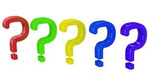 Pergunta da cor Imagens de Stock