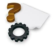 Pergunta da engrenagem - rendição 3d Imagem de Stock