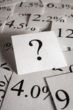Pergunta das taxas de interesse Fotografia de Stock