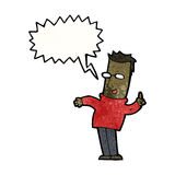 pergunta de resposta do homem dos desenhos animados Imagens de Stock Royalty Free