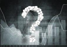 Pergunta do crescimento financeiro Fotografia de Stock Royalty Free
