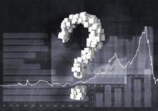 Pergunta do crescimento financeiro, rendição 3d Imagens de Stock Royalty Free