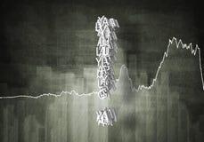 Pergunta do crescimento financeiro, rendição 3d Fotos de Stock Royalty Free