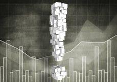 Pergunta do crescimento financeiro, rendição 3d Fotografia de Stock Royalty Free