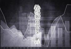 Pergunta do crescimento financeiro, rendição 3d Foto de Stock