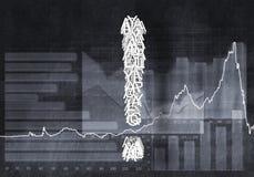Pergunta do crescimento financeiro, rendição 3d Fotografia de Stock