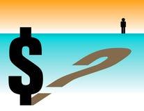 Pergunta do dólar ilustração royalty free