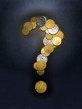 Pergunta do dinheiro Foto de Stock Royalty Free