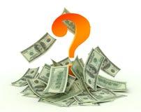 Pergunta do dinheiro Imagens de Stock