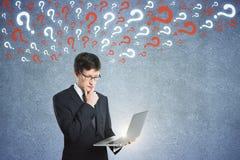 Pergunta e conceito da confusão imagens de stock royalty free