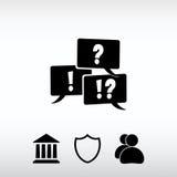 Pergunta e marca de exclamação, ilustração do vetor Projeto liso Imagens de Stock Royalty Free
