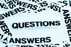 Pergunta e resposta imagens de stock