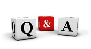 Pergunta e resposta Fotografia de Stock