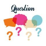 Pergunta e soluções Foto de Stock Royalty Free