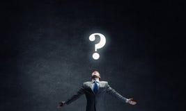 Pergunta grande Foto de Stock