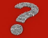 Pergunta grande das perguntas ilustração stock