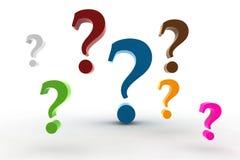 Pergunta-marcas Foto de Stock