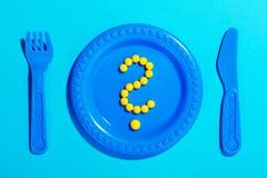 Pergunta Mark Pills imagens de stock