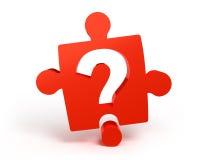 Pergunta vermelha Fotos de Stock Royalty Free