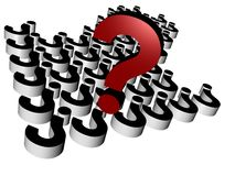 perguntas 3d Fotografia de Stock Royalty Free