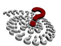 perguntas 3d Foto de Stock Royalty Free
