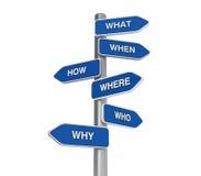 Perguntas bem escolhidas Fotografia de Stock