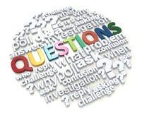 Perguntas coloridas da palavra Fotografia de Stock Royalty Free