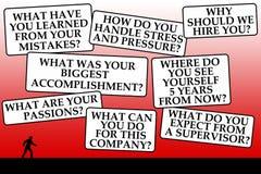 Perguntas da entrevista Foto de Stock Royalty Free