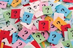 Perguntas demais Imagem de Stock