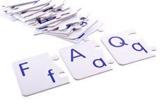 Perguntas do enigma Imagem de Stock