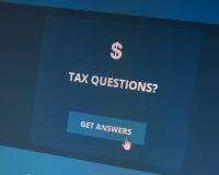 Perguntas do imposto sobre o ato disponível do cuidado? foto de stock royalty free