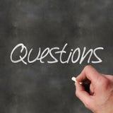Perguntas do quadro-negro Fotografia de Stock