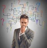 Perguntas e dúvidas Fotografia de Stock Royalty Free