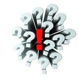 Perguntas e resposta ilustração royalty free