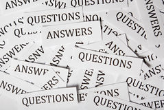 Perguntas e respostas Fotos de Stock Royalty Free