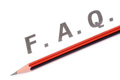 Perguntas freqüentemente feitas Imagem de Stock