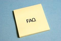 Perguntas frequentes Imagens de Stock
