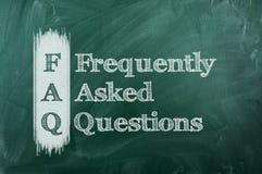 Perguntas Frequentes Imagens de Stock Royalty Free