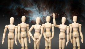 Perguntas no assunto do espaço Perseguição das estrelas Elementos desta imagem fornecidos pela NASA imagem de stock royalty free