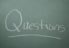 Perguntas para a classe Imagens de Stock Royalty Free