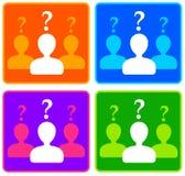 Perguntas pessoais Fotografia de Stock Royalty Free