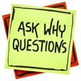 Pergunte porque conselho ou lembrete da pergunta Imagem de Stock Royalty Free